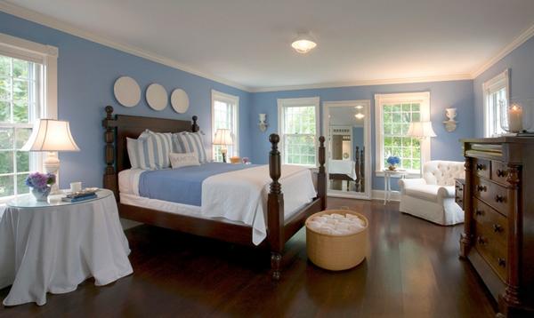 simple blue bedroom