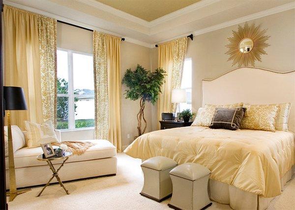 gold bedroom design