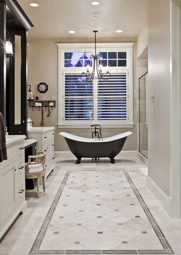 stone tile bathroom ideas
