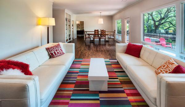 Add area rugs