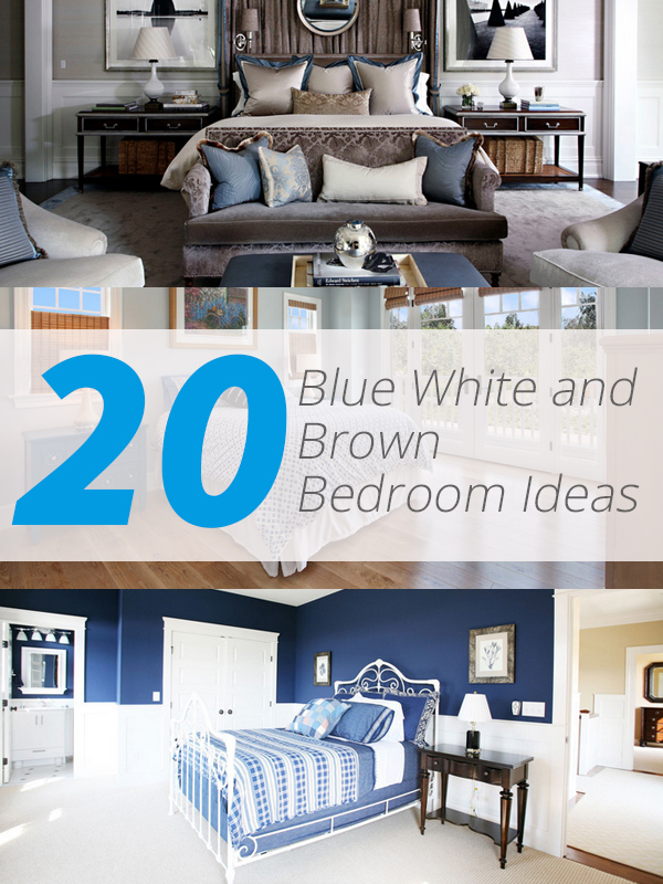 blue white brown bedroom. 20 Blue  White and Brown Bedroom Ideas   Home Design Lover