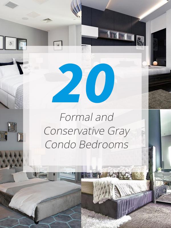 gray condo bedrooms