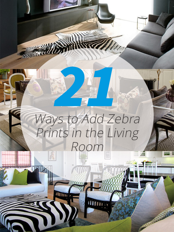 zebra decor living room