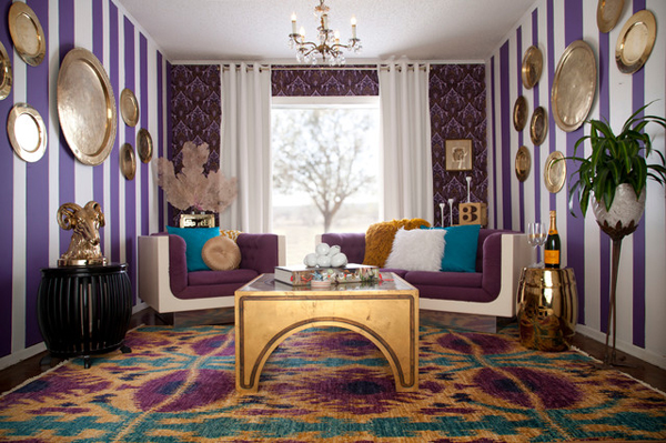 20 Perfect Purple and Gold Living RoomsHome Design Lover