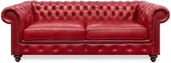 20 Ravishing Red Leather Living Room Furniture | Home Design Lover