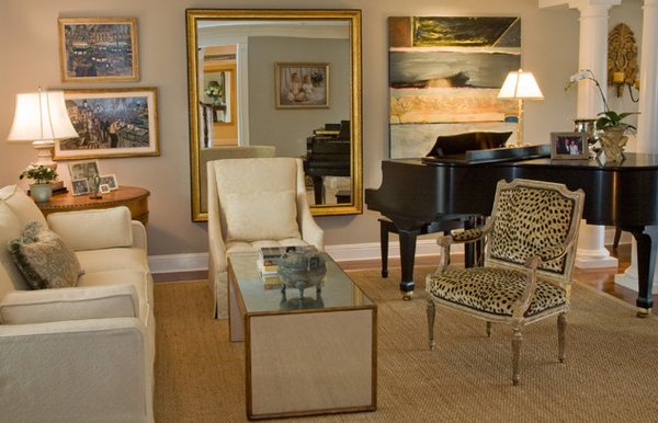 accent chairs - 20 Stunning Leopard Accents In The Living Room Home Design Lover