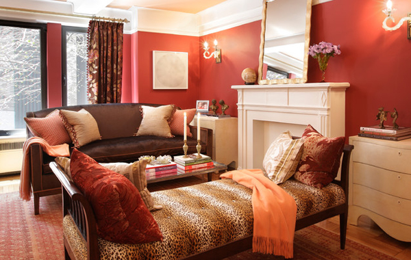 leopard chairs - 20 Stunning Leopard Accents In The Living Room Home Design Lover