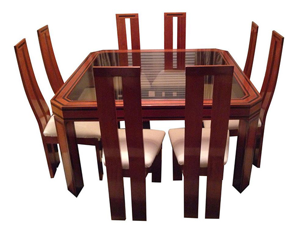 brazilian octagonal dining set table 8 chairs art deco dining 7