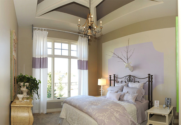 Subtle lavender bedroom