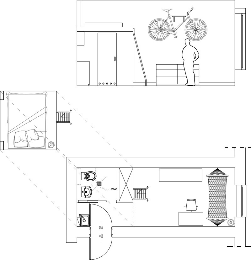 tiny apartment floor plan
