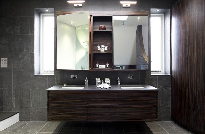 20 Stunning Contemporary Dark Wood Bathroom Vanity | Home Design Lover
