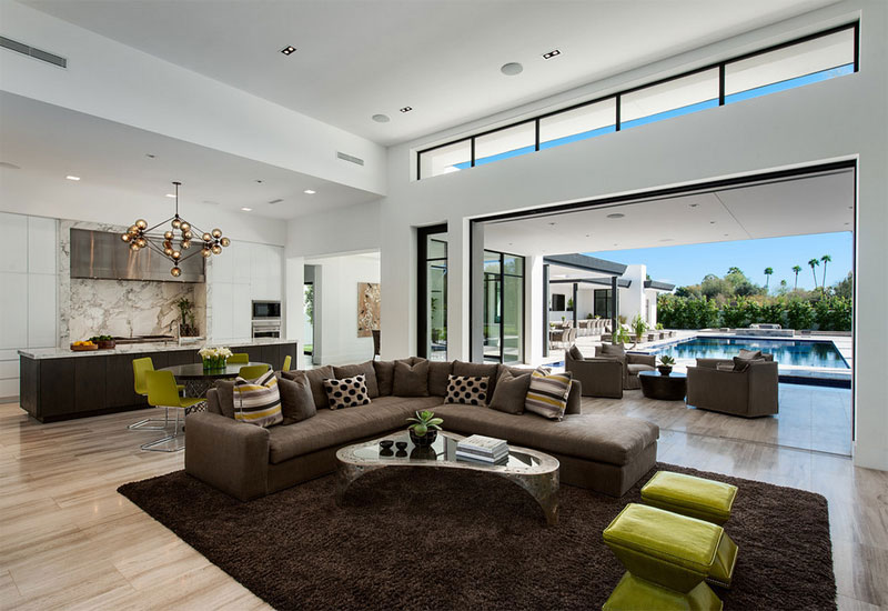bali inspired trendy style living room