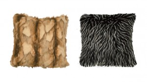 animal fur pillows