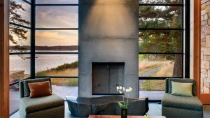 20 Concrete Fireplace Designs Highlighted In Well Designed Living Rooms
