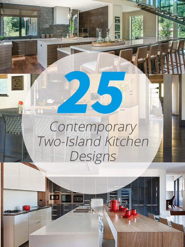 two island contemporary kitchen