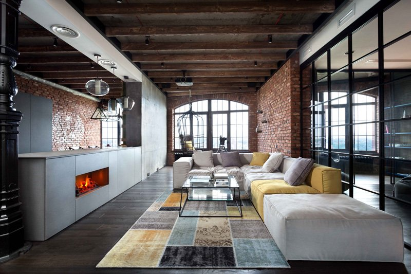 Modern Industrial Loft Apartment in Ukraine - Dream House