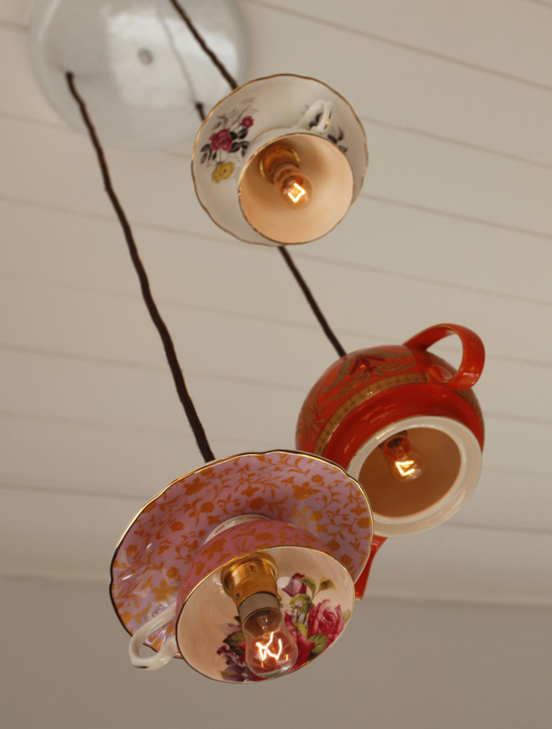 Teacup Pendant Light