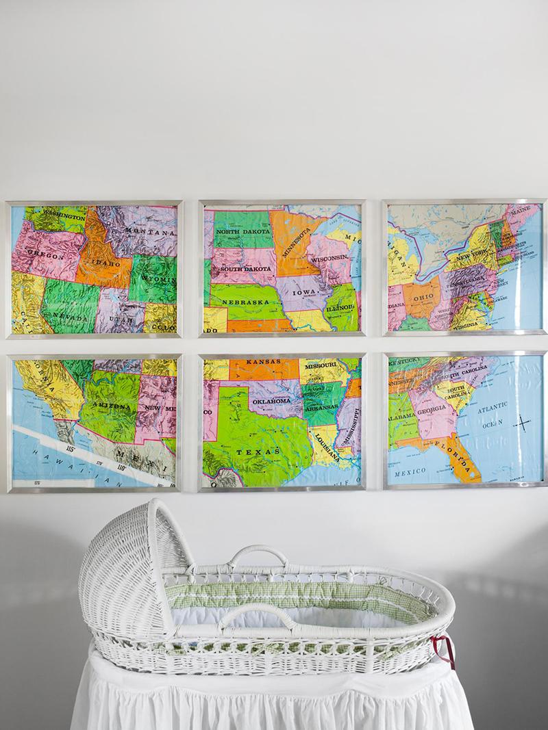 Fractured, Framed Map Art