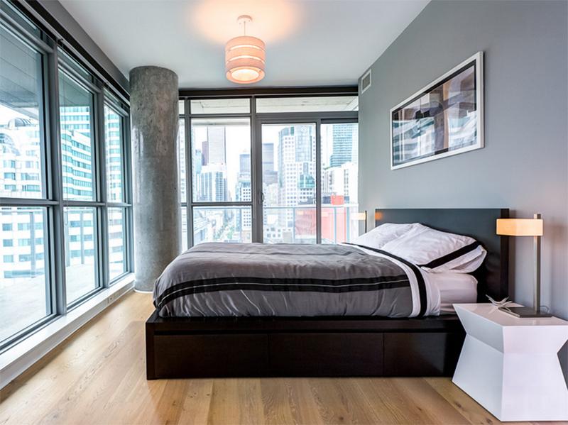 black bed design bachelor pad ideas