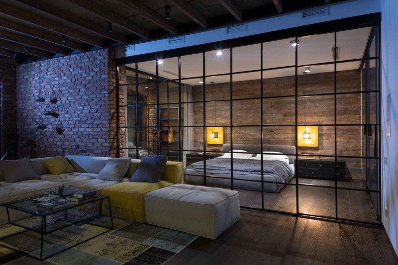Modern Industrial Loft Apartment in Ukraine - Dream House