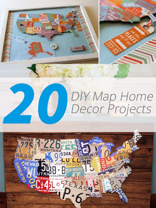 diy map decor