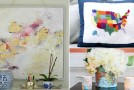 diy map decors