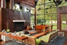 copper fireplace livingroom