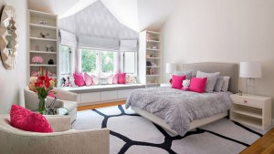 pink gray bedroom