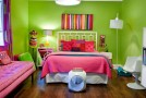 pink green bedroom