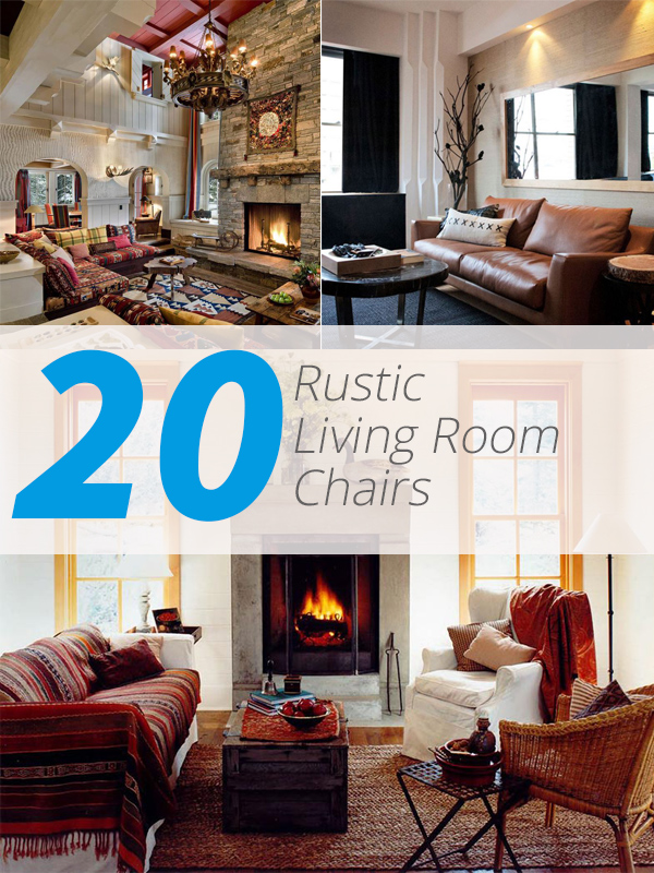 rustic livingroom chairs - 20 Cozy Rustic Chairs In Living Room For A Warm Appeal Home