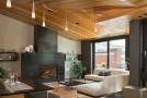 wood ceiling livingroom