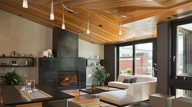 Miraculous 23 Living Rooms With Wooden Ceilings Exuding A Warm Aura Home Largest Home Design Picture Inspirations Pitcheantrous