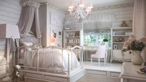 girls traditional bedroom