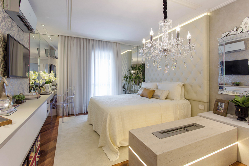 25 Contemporary Bedrooms with Stunning Crystal Chandeliers – Bedroom Crystal Chandelier