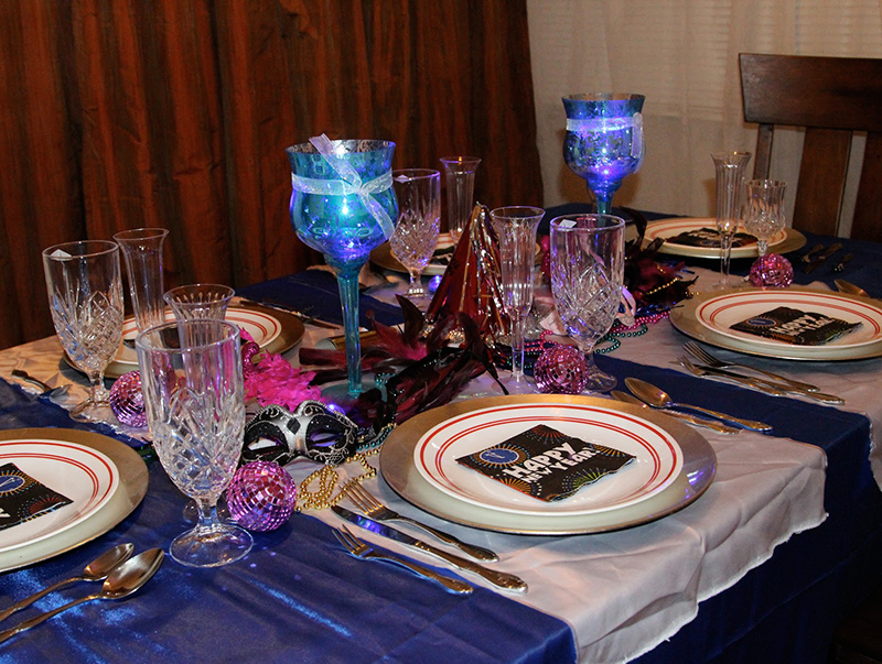 Masquerade Dinner On New Year's Eve