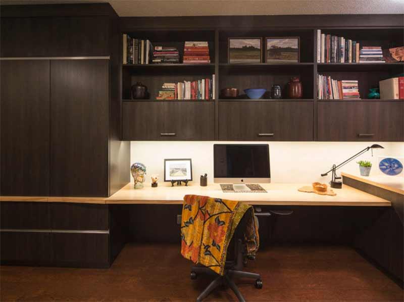 SW Portland Contemporary Condo: Home Office