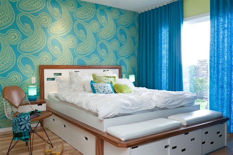 Colorful Mid Century Modern Residence  Kropat Interior Design. 25 Bright Mid century Modern Bedroom Designs   Home Design Lover