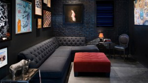 black living room couches