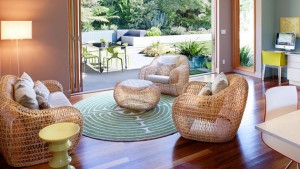 rattan chairs living