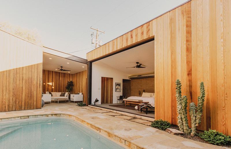 Redwood Clad Home wood