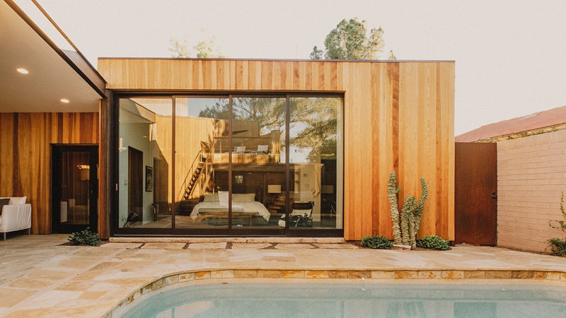 Redwood Clad Home close