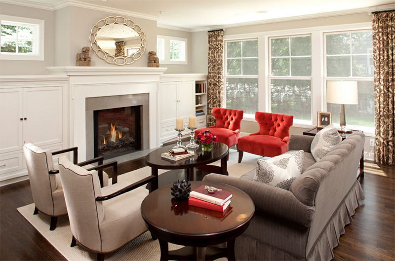 tufted chairs - 20 Red Chairs To Add Accent To Your Living Room Home Design Lover
