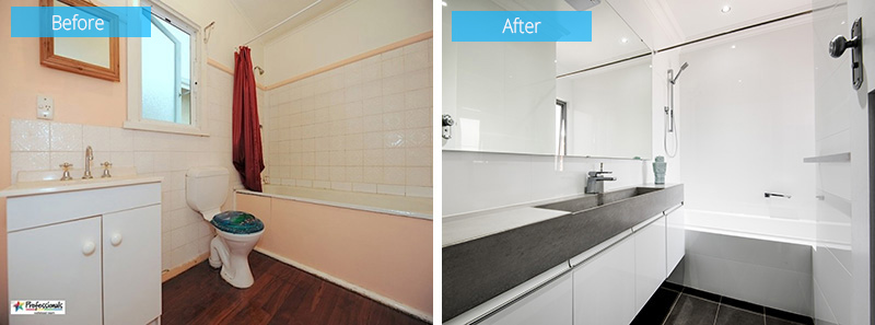 1940s renovation bath