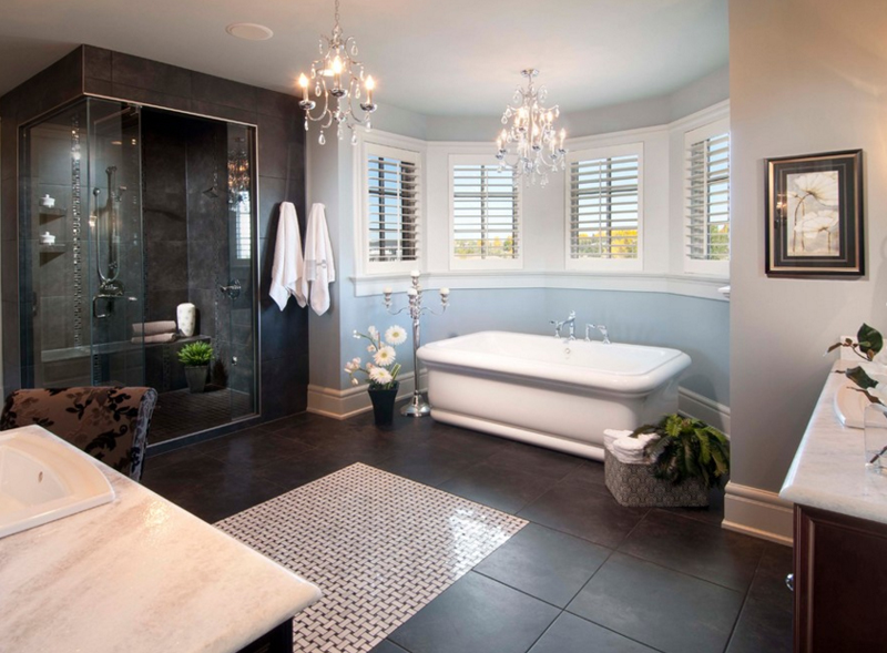 gorgeous bathroom crystal chandeliers  home design lover,