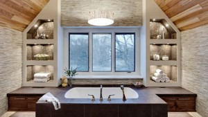 bathroom vaulted