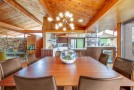 dining vaulted ceiling