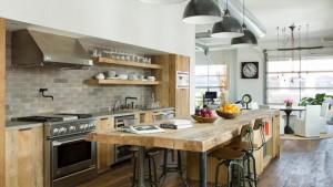 industrial light kitchen
