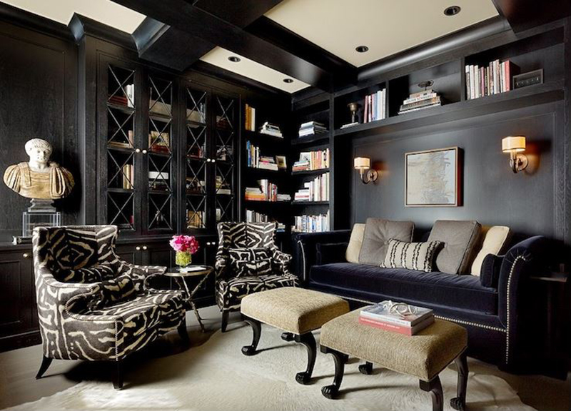 black living room - 20 Zebra Print Accent Chair That Will Liven Up Your Living Room