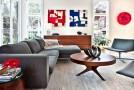 blue red white living room