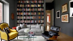 bookshelves livingroom
